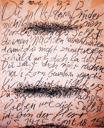 Günther Uecker, Dialog, 2002, Nägel, Farbe und Graphit auf Leinwand über Holz, 200 x 160 x 16 cm, Front.jpg