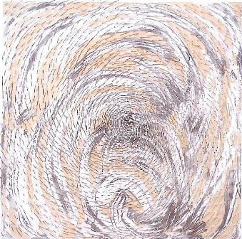 _S_Uecker, Spirale 3, 2002, Nägel und Farbe auf Holz, 200 x 200 x 16 cm, Front b.JPG- Foto: © Wienerroither & Kohlbacher]