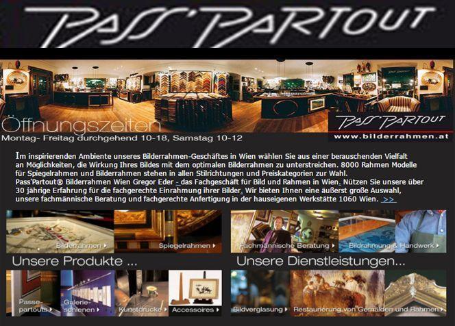 Passpartout- Anzeige